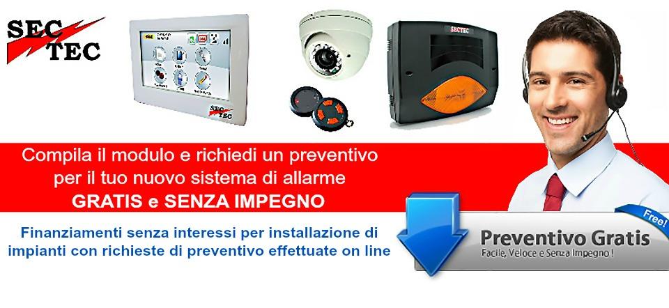 Preventivo impianto allarme for Preventivo impianto elettrico pdf